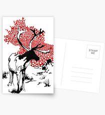 Reindeer drawing Postcards