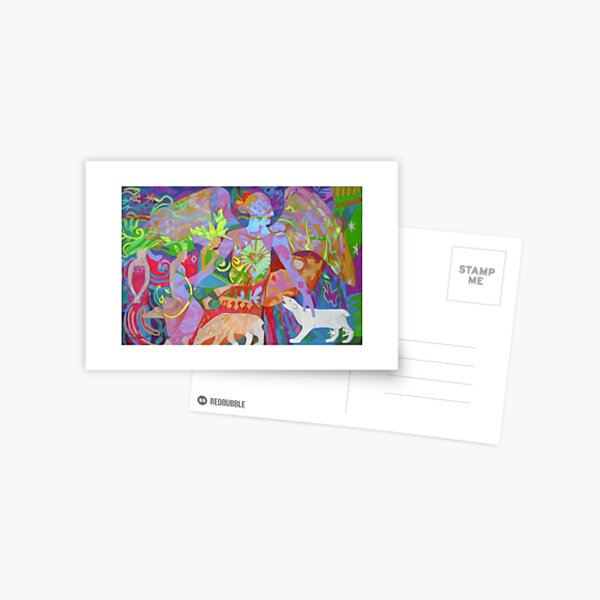 Aurora Borealis giclee with borders Postcard