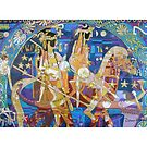 The Twinning of the Stars giclee with borders by Denise Weaver Ross