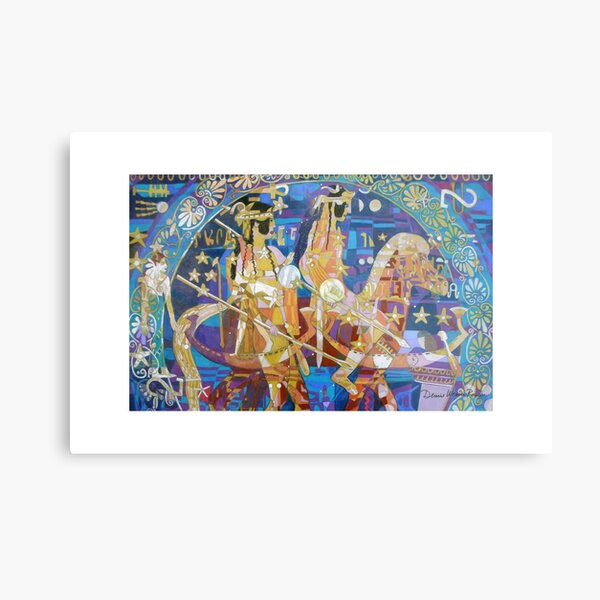 The Twinning of the Stars giclee with borders Metal Print