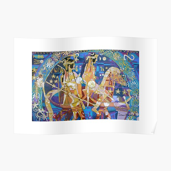 The Twinning of the Stars giclee with borders Poster
