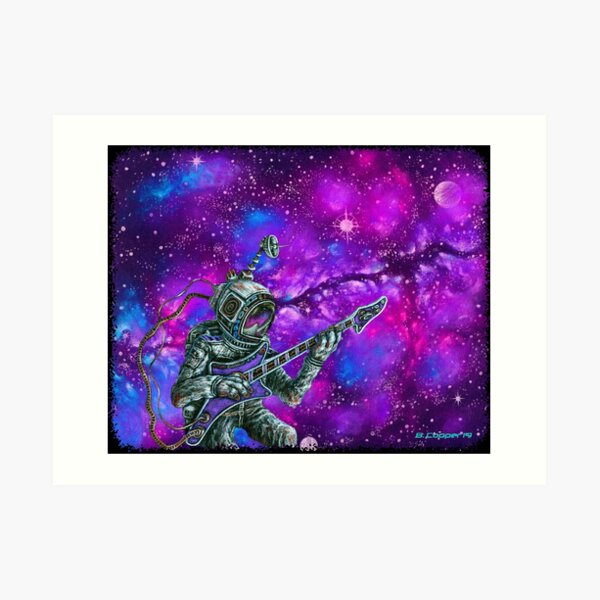 Music Is His Oxygen-Purple Haze Art Print