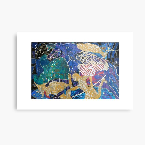 The Great Square giclee with borders Metal Print