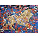 Sickle of Leo giclee with borders by Denise Weaver Ross