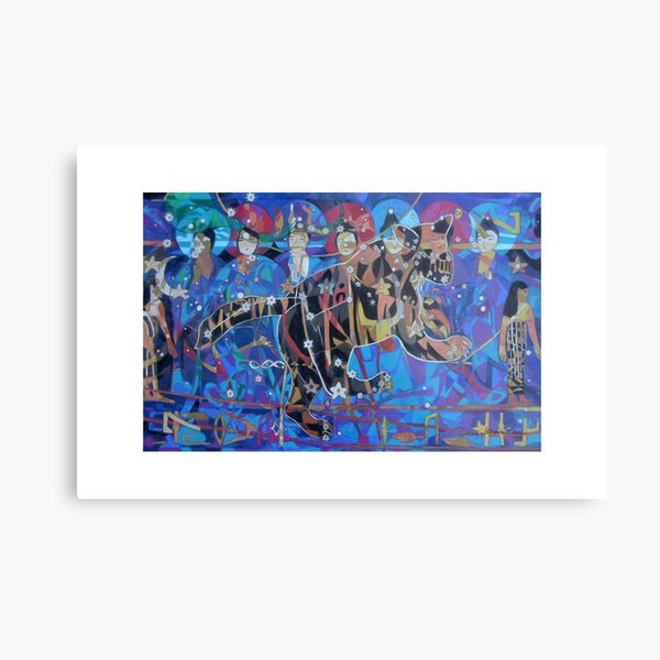 Seven Sages Watch Over the Great Bear giclee with borders Metal Print