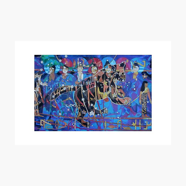 Seven Sages Watch Over the Great Bear giclee with borders Photographic Print
