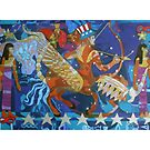 Eight Stars of War giclee with borders by Denise Weaver Ross