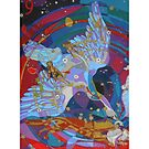 Nine Stars of a Swan Song giclee with borders by Denise Weaver Ross