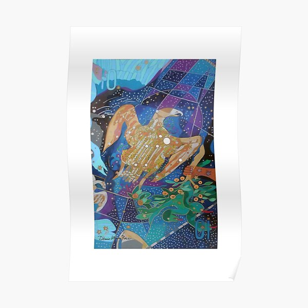 Ten Stars of the Eagle's Harp giclee with borders Poster