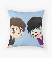 Dan and Phil Throw Pillow