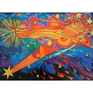 Our Wild Stars giclee with borders by Denise Weaver Ross