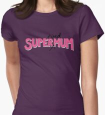 Super(tired)Mum in Pink and White T-Shirt