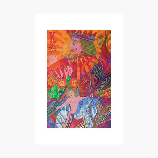 The Son is the King of the Man giclee with borders Photographic Print