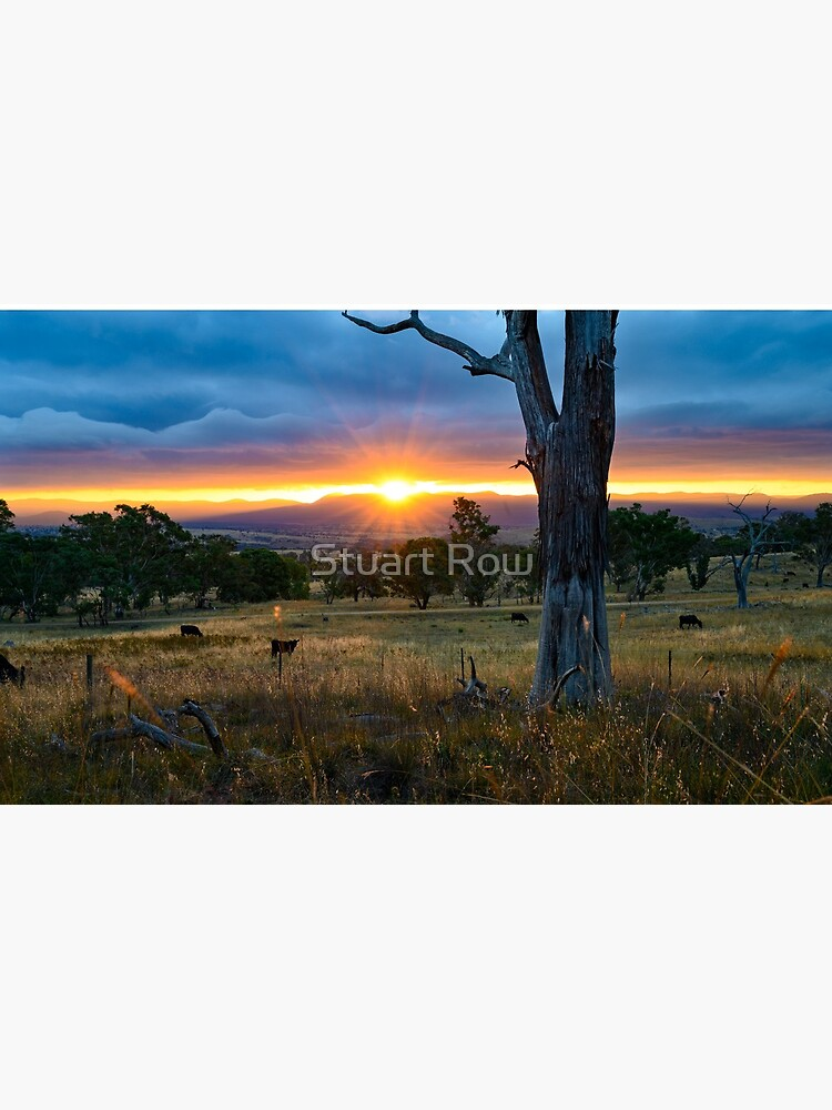Sunset over the Brindabellas by StuartRow