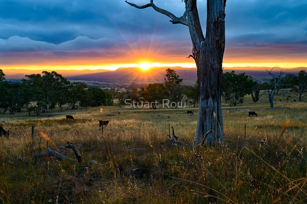Sunset over the Brindabellas by Stuart Row