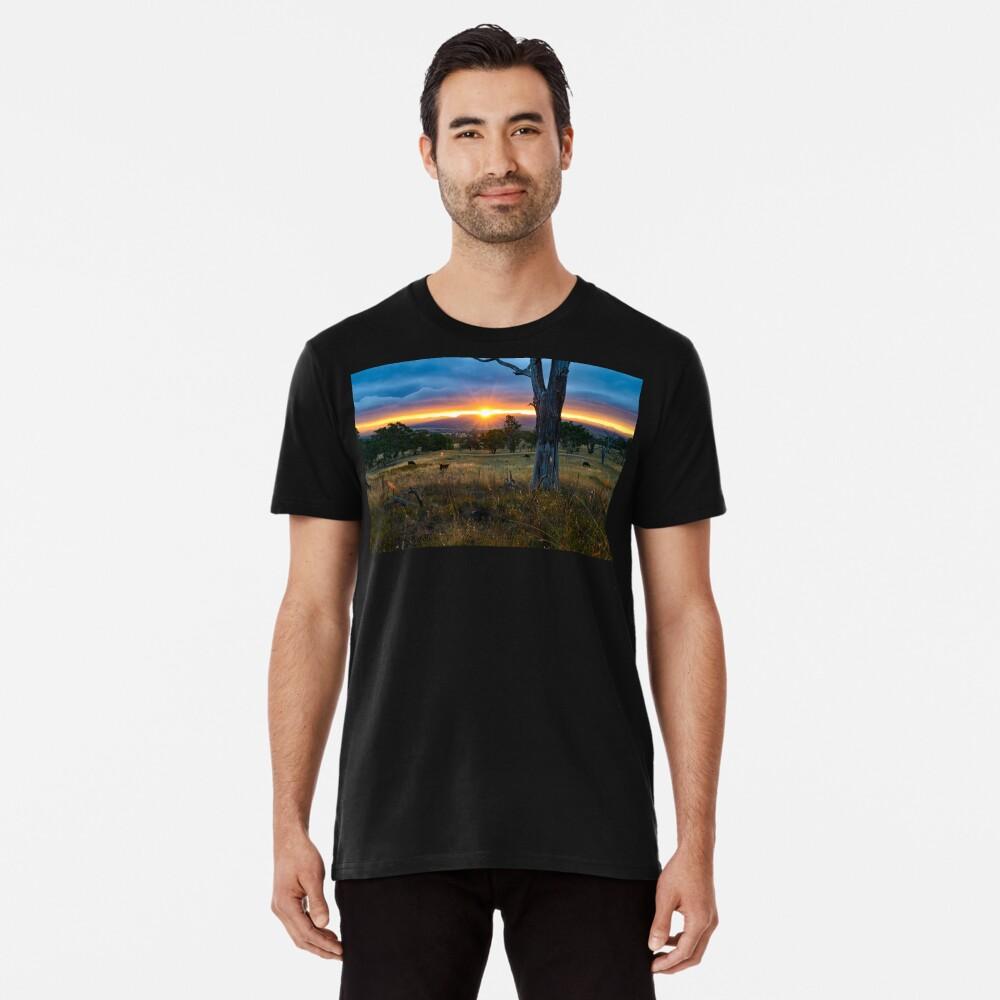 Sunset over the Brindabellas Premium T-Shirt