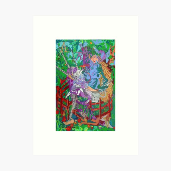 Archealogy of the Unicorn giclee with borders Art Print
