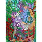 Archealogy of the Unicorn giclee with borders by Denise Weaver Ross