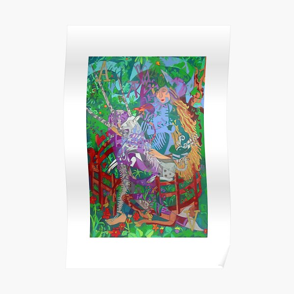 Archealogy of the Unicorn giclee with borders Poster