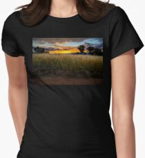 Sunset over the Brindabellas - 2 Women's Fitted T-Shirt