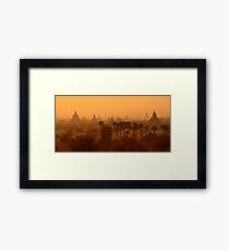 Bagan Sunrise Framed Print
