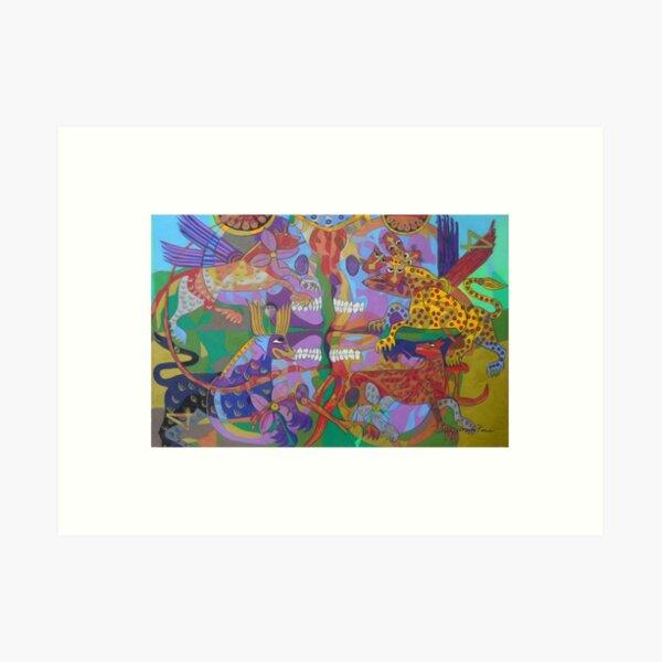 Four Corners of the Mind giclee borders Art Print