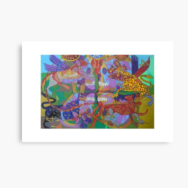 Four Corners of the Mind giclee borders Canvas Print