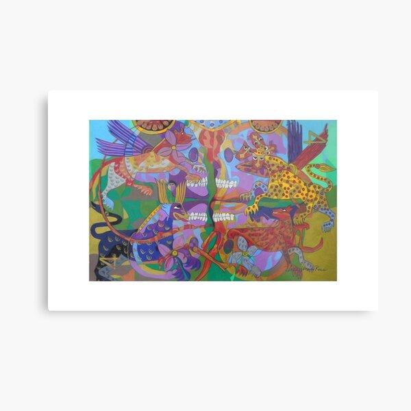Four Corners of the Mind giclee borders Metal Print
