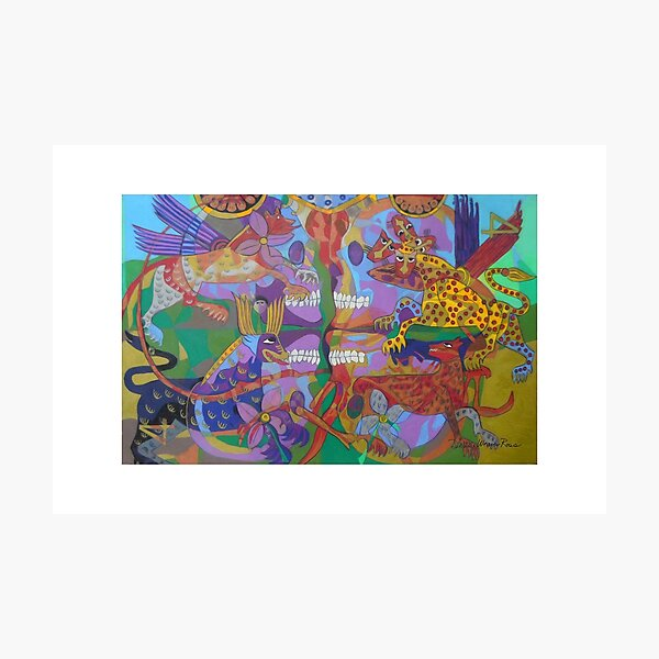 Four Corners of the Mind giclee borders Photographic Print