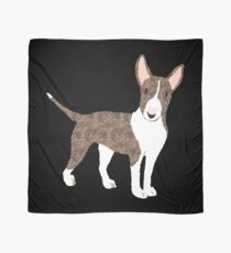 English Bull Terrier Brindle - Watercolor Style English Bull Terrier Scarf