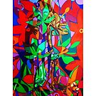 The Five Bones of Creation giclee with borders by Denise Weaver Ross