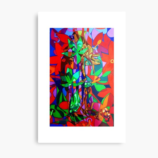 The Five Bones of Creation giclee with borders Metal Print