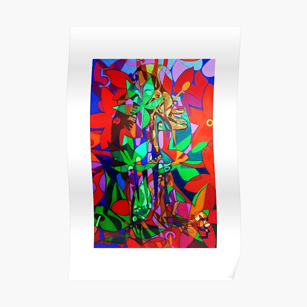 The Five Bones of Creation giclee with borders Poster