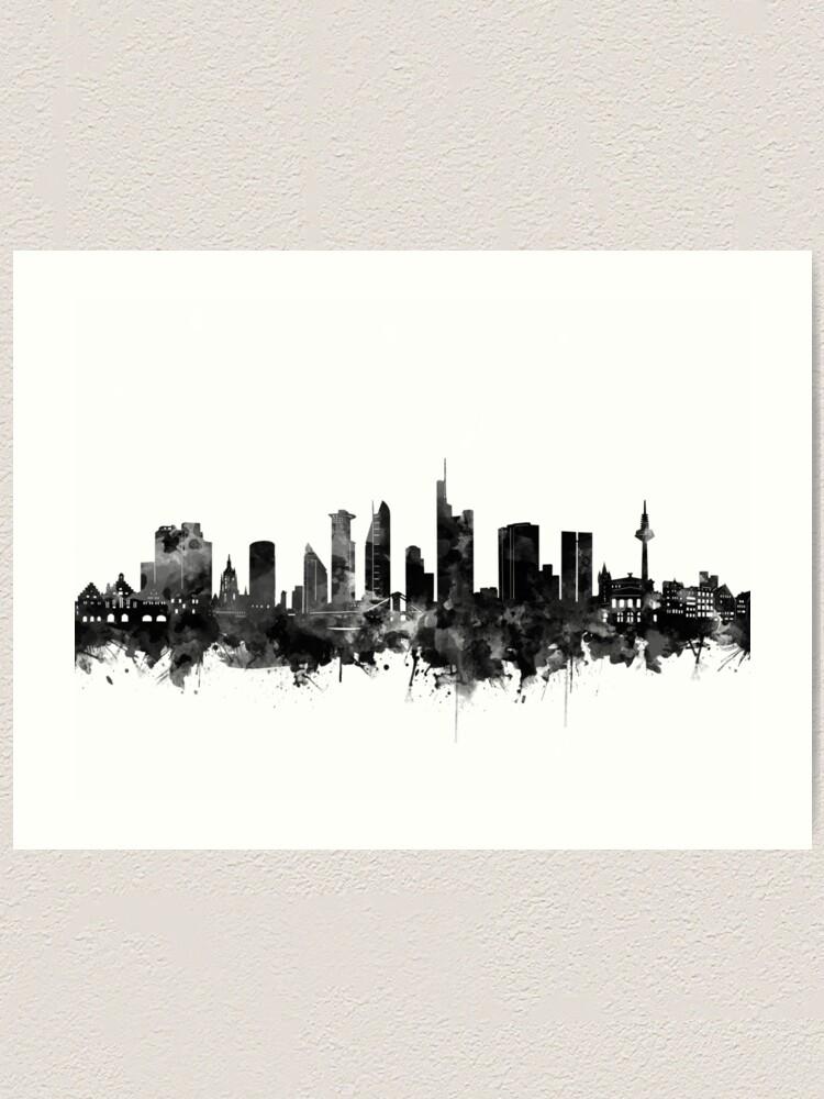 "Coaster /""Skyline Frankfurt/"" Black"