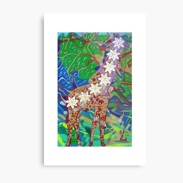 Seven Bones of Connection giclee with borderse Metal Print