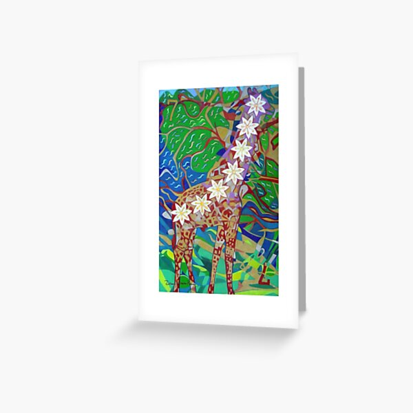 Seven Bones of Connection giclee with borderse Greeting Card