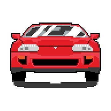 Red Mk4 Supra by mw-gfx