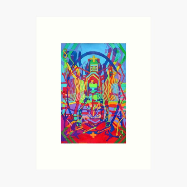 Eight Bones of the Spider Woman giclee with borders Art Print