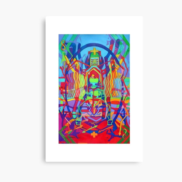 Eight Bones of the Spider Woman giclee with borders Canvas Print