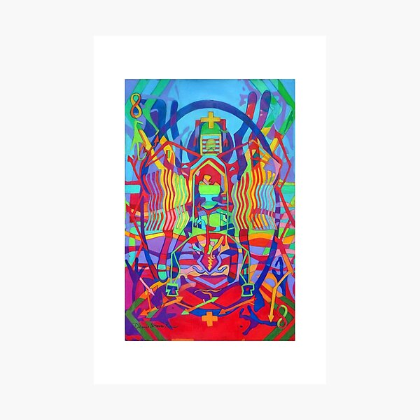 Eight Bones of the Spider Woman giclee with borders Photographic Print