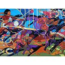 Nine Bones of Conquest giclee with borders by Denise Weaver Ross