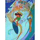 Hanging Ten Over Boney Reefs giclee with borders by Denise Weaver Ross