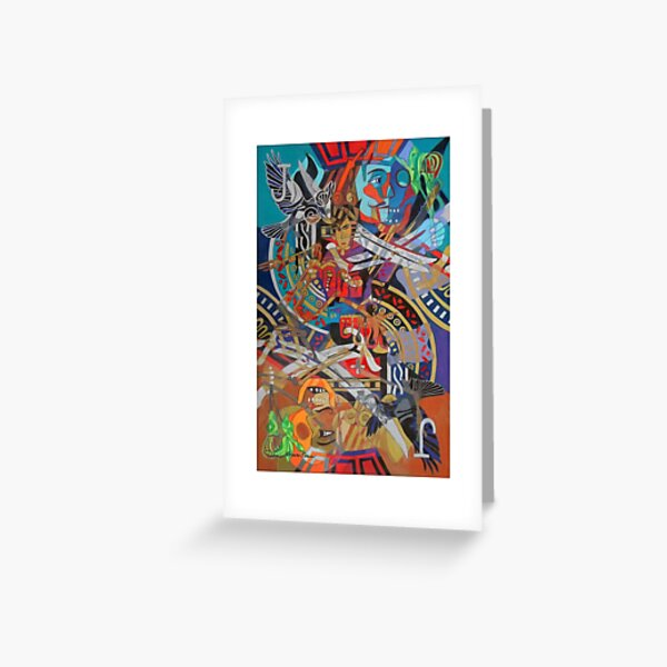 Jack's Legendary Bones giclee with borders Greeting Card
