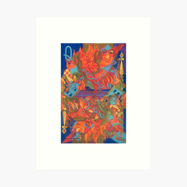 The Queen's Fire giclee with borders Art Print
