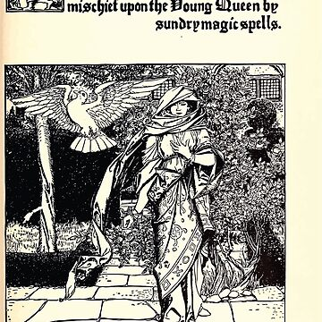 The Wonder Clock Howard Pyle 1915 0179 The Step Mother Bringeth Mischief upon Young Queen Sundry Magic Spells by wetdryvac