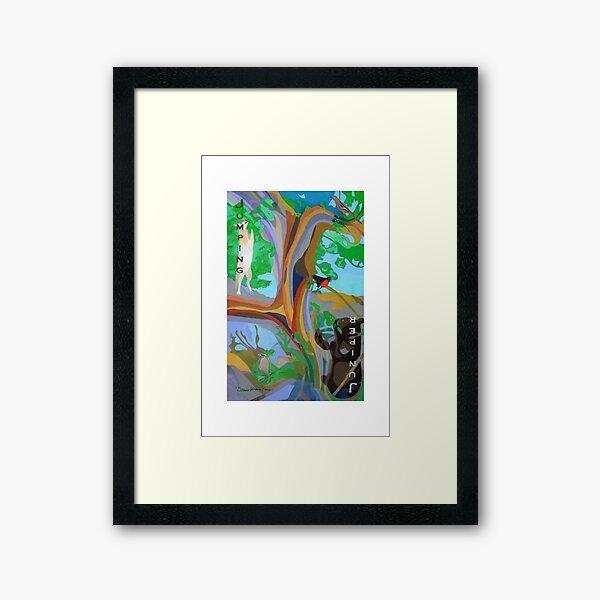 Jumping Juniper giclee with borders Framed Art Print