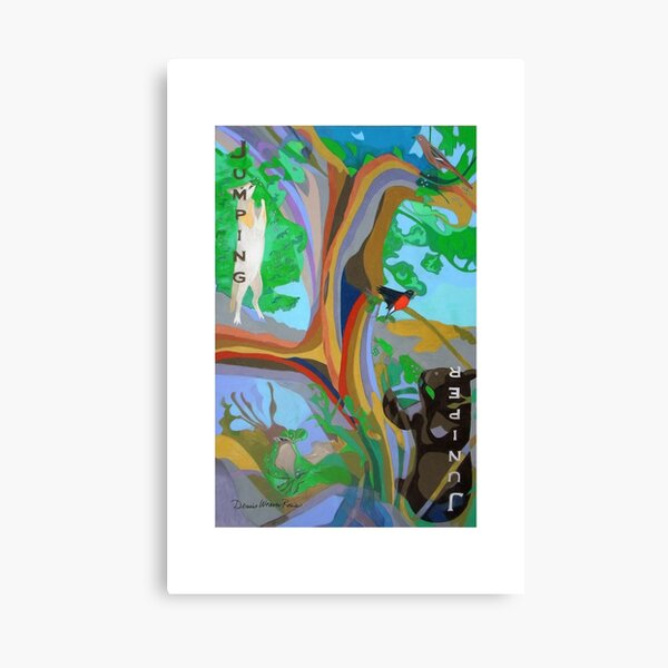 Jumping Juniper giclee with borders Canvas Print