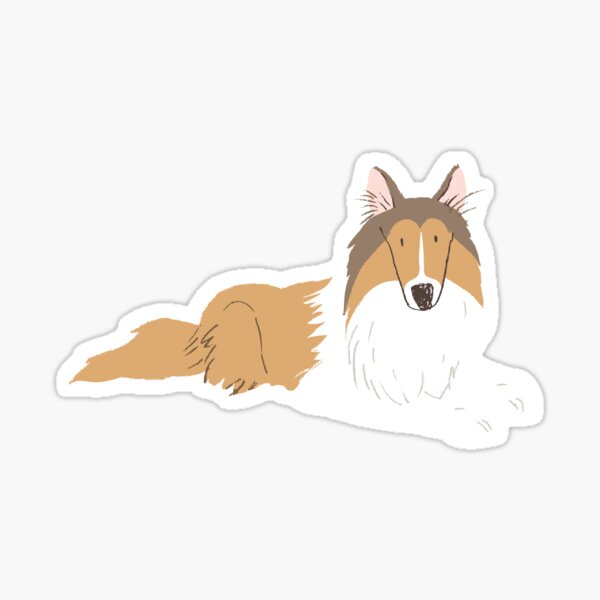Rough Collie - Watercolor Style Rough Collie Sticker