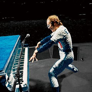 Eltonn John en un concierto de rock de Ferrazi