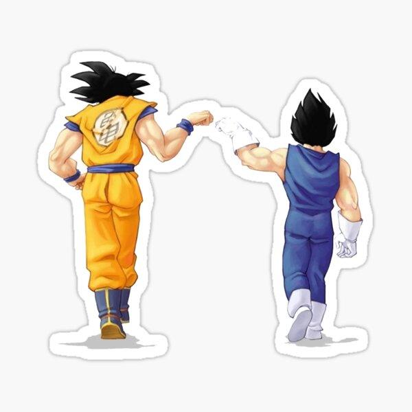 Goku et Vegeta Fist Bump Sticker